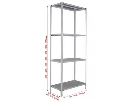 Стеллаж металлический 2500*1200*300 (5 полок)